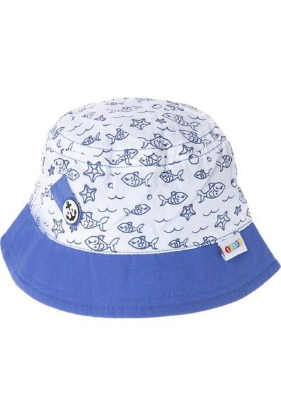 Soobe Erkek Bebek Fötr Şapka Beyaz (0-24 ay)
