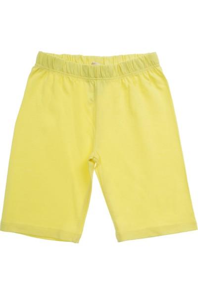 Soobe Kız Çocuk Kısa Boy Tayt Sarı (3-7 Yaş)