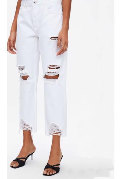 Coten Concept Paçaları Saçaklı Relaxed Jean