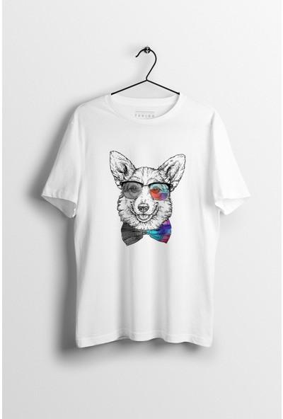 Tshigo Watercolor Husky Baskılı Erkek T-Shirt