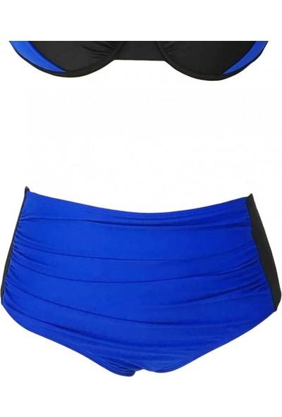 Angelsin Mavi Siyah Bikini Alt