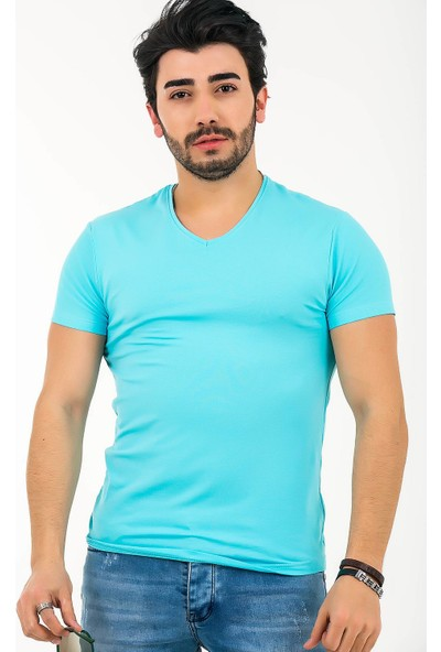 Ftx Likrali Slim Fit Basic T-Shirt