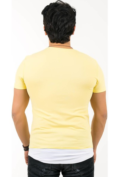Ftx 6501 Slim Fit Parcali T-Shirt