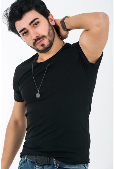 Ftx Likrali Slim Fit Basic T-Shirt