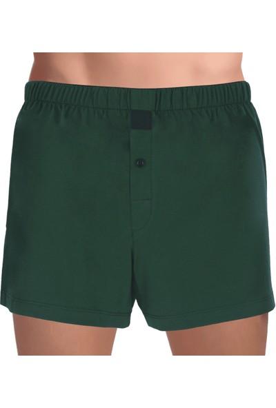 The DON Cottonizm Erkek Boxer %100 Pamuk Koyu Yeşil