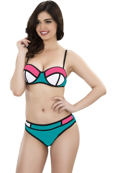 Argisa Renkli Parçalı Bikini 5001 - Su Yeşili