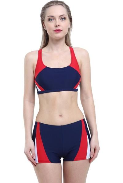 Argisa Yeni Parçalı Badili Şortlu Bikini 5043 - Lacivert