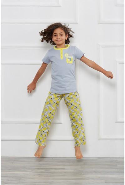Obje Çocuk Kısa Kol Pijama Takım