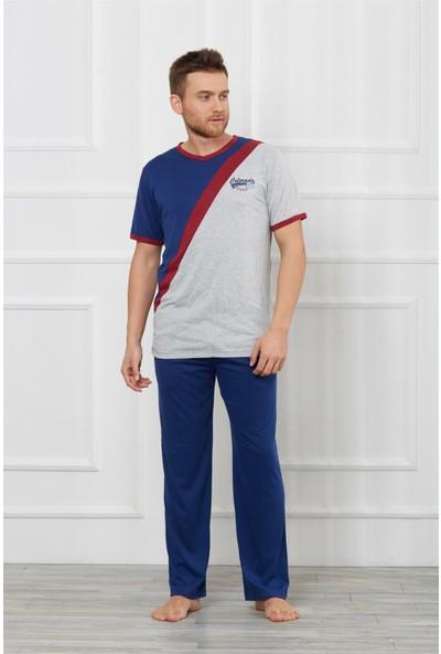 Obje Erkek Kısa Kollu Pijama Takımı
