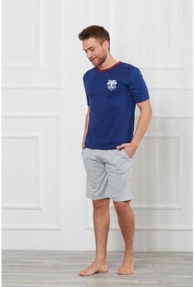 Obje Erkek Kısa Kollu Tişört - Şortlu Pijama Takımı