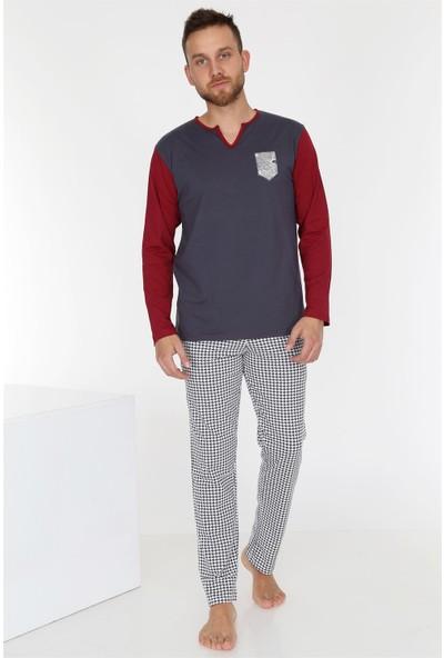 Obje Füme Erkek Pijama Takımı