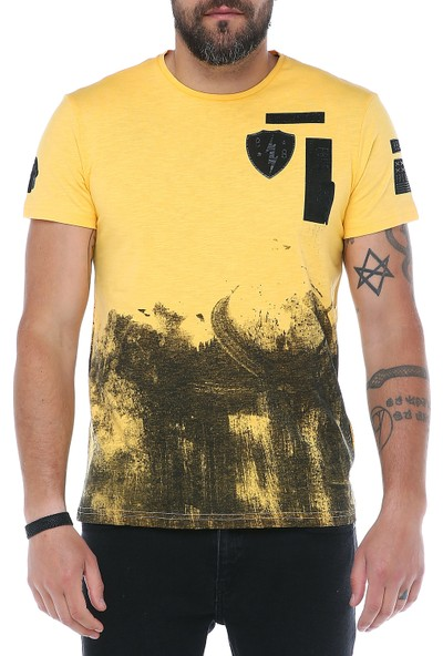 Fbi O Yaka Baskılı T-Shirt