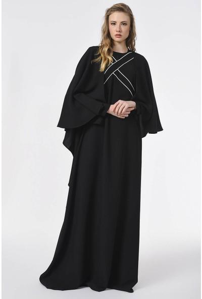 Mizalle Önü Biye Detaylı Tasarım Elbise