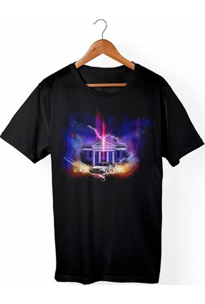 Muggkuppa Back To Future -Geleceğe Dönüş Siyah T-Shirt