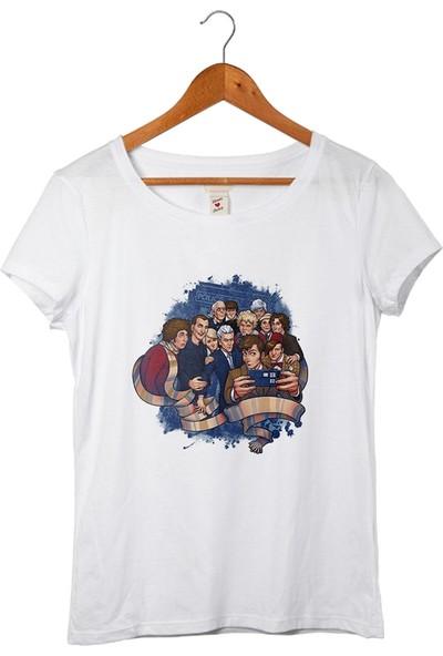 Muggkuppa Doctor Who Kadın Beyaz T-Shirt