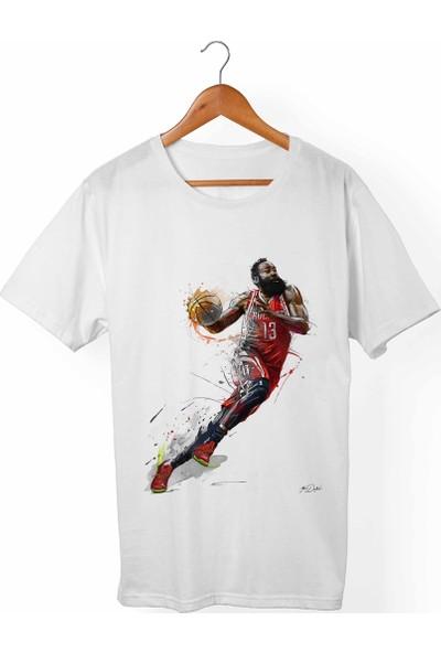 Muggkuppa James Harden Unisex-Erkek Beyaz T-Shirt
