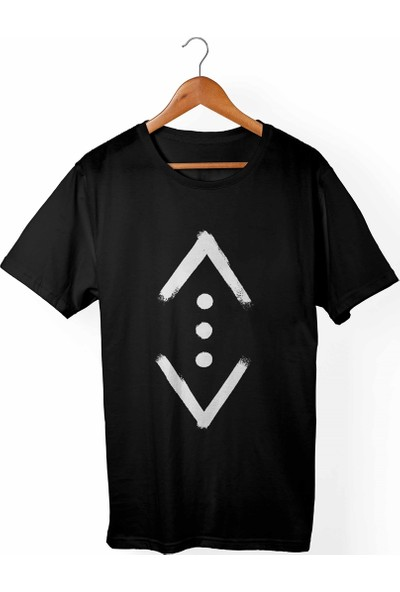 Muggkuppa Çukur Unisex-Erkek Siyah T-Shirt