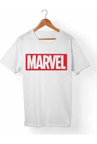 Muggkuppa Marvel Unisex-Erkek Beyaz T-Shirt