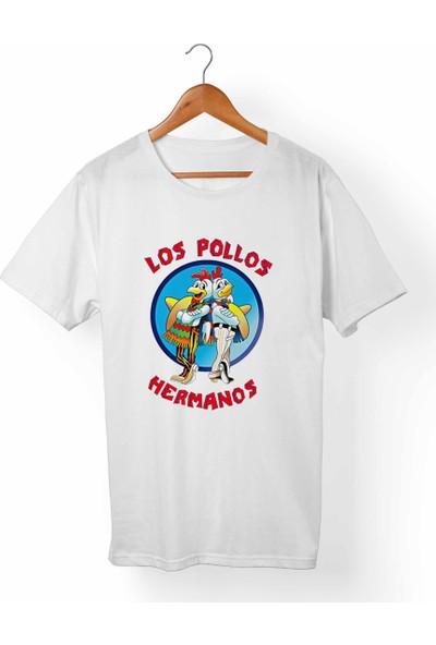 Muggkuppa Los Pollos Hermanos Breaking Bad Unisex-Erkek Beyaz T-Shirt