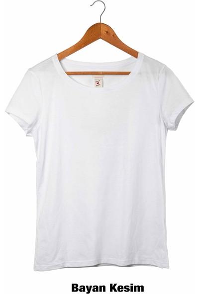 Muggkuppa Charlie Chaplin Unisex-Kadın Beyaz T-Shirt