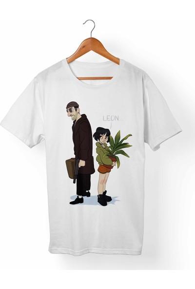 Muggkuppa Leon-Mathilda Beyaz T-Shirt