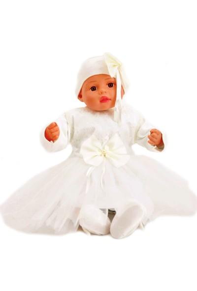 Tomuycuk Kız Beyaz Ponçikli Mevlüt Takımı