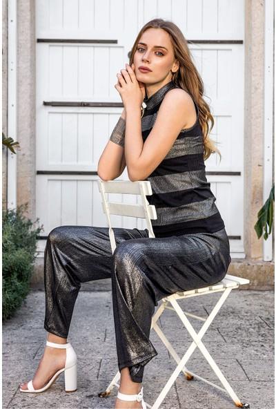 Suxe 4555 Kadın Bluz ve Pantolon Kombin
