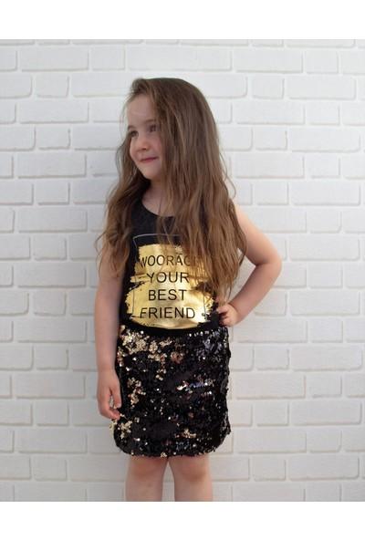 Edda Bebek Woorage Pullu Etek Kız Çocuk Takım
