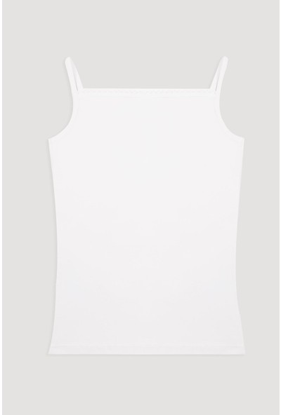 Bross Beyaz 1035 İp Askılı Lycralı Çocuk Atlet