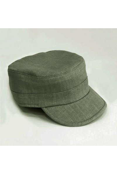 Külah Keten Haki Outdoor Şapka