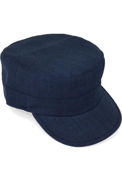 Külah Keten Lacivert Outdoor Şapka
