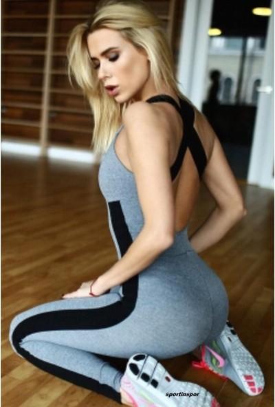 Sportinspor Yoga - Fitnes - Pilates - Koşu Spor Tulum Tayt - Ps 2119