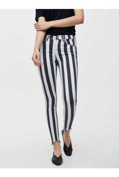 LTB Tanya X Striped Black Wash Kadın Jeans