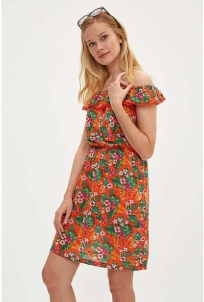 Defacto Kadın Desenli Pareo Elbise