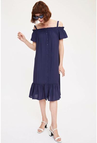 DeFacto Askılı Düğmeli Relax Fit Elbise K8192AZ19SM