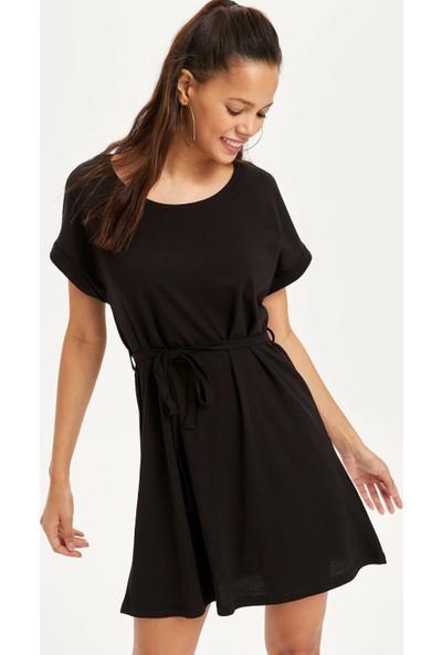 Defacto Kadın Beli Büzgülü Slim Fit Elbise