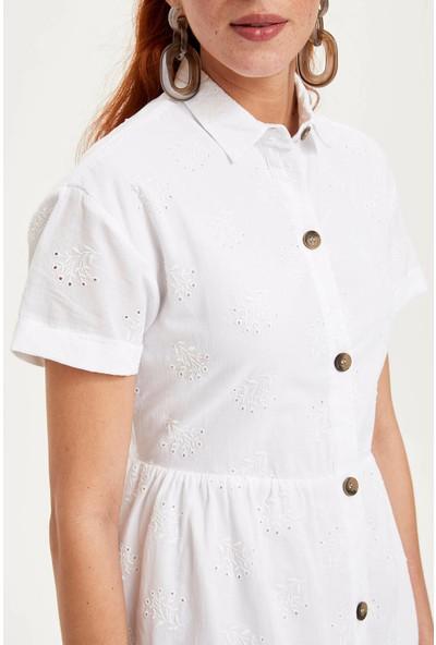 Defacto Kadın Gömlek Elbise