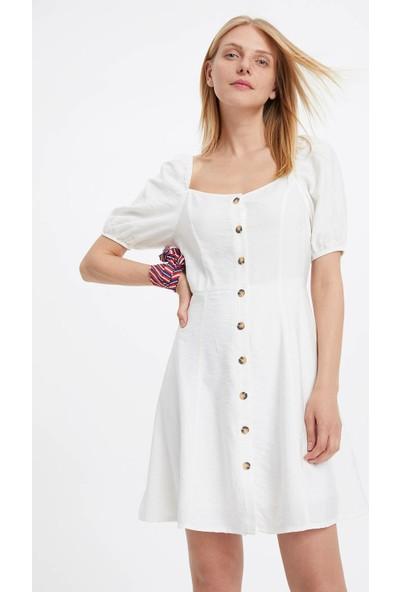 Defacto Kadın Balon Kol Elbise
