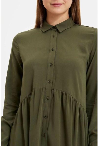 Defacto Kadın Relax Fit Gömlek Tunik