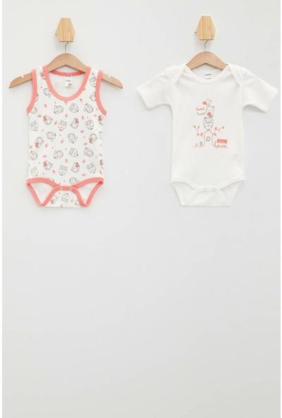 Defacto Kız Bebek Baskılı Body Set