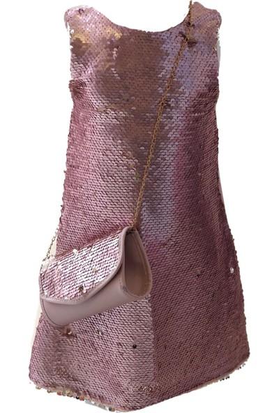 Serkon 4231 Kız Payet Elbise