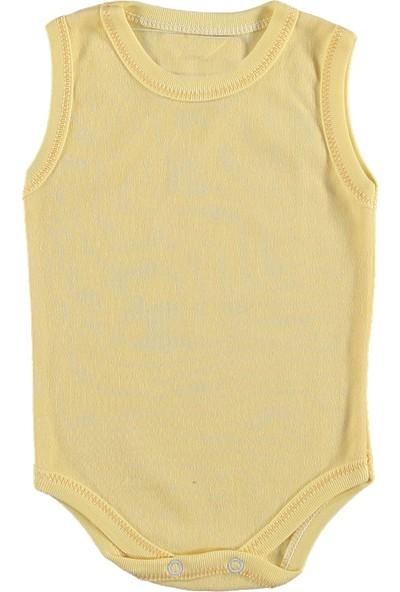Destino Bebek Penye Askılı Düz Çıtçıtlı Body Sarı 6 - 9 Ay