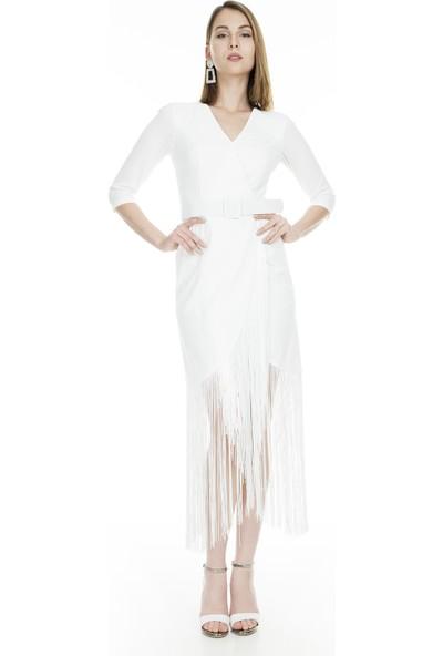 Trend Saçaklı Kadın Abiye Elbise 4784223