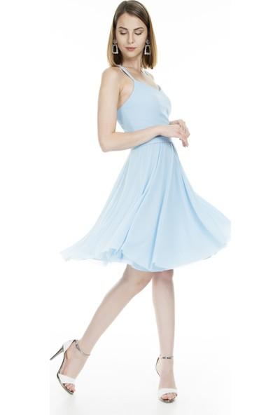 Trend Tül Detaylı Kadın Abiye Elbise 4784251