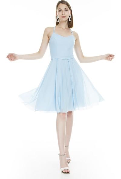 Trend Tül Detaylı Abiye Elbise Kadın Abiye Elbise 4784251
