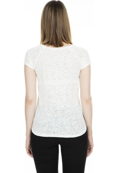 Lela Baskılı Bisiklet Yaka T Shirt Kadın T Shirt 4491003