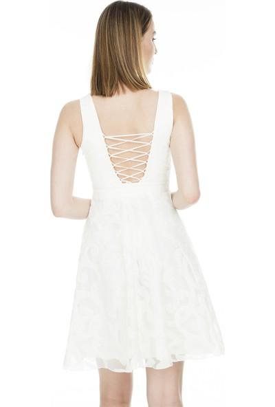 Saygın Sırt Dekolteli Kadın Abiye Elbise 050290