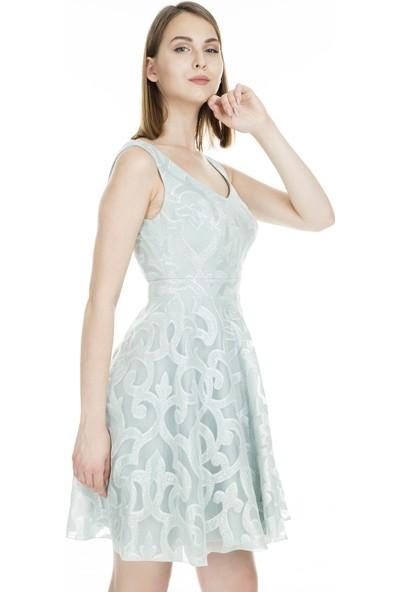 Saygın Sırt Dekolteli Abiye Elbise Kadın Abiye Elbise 050290