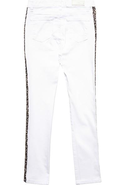 LTB Tanya G White Leopard Wash Kız Çocuk Jeans