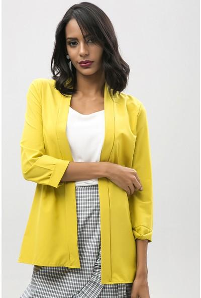 New Laviva Fıstık Yeşil Spor Kadın Ceket